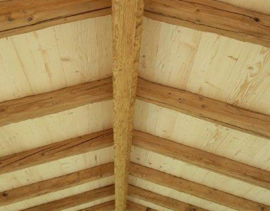 Gartenhaus Dach innne